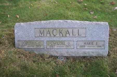 MACKALL, CARLISLE D. - Columbiana County, Ohio | CARLISLE D. MACKALL - Ohio Gravestone Photos