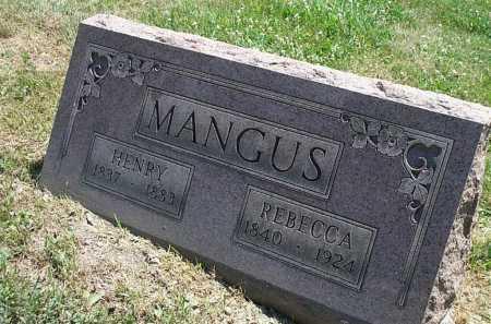 MANGUS, REBECCA - Columbiana County, Ohio | REBECCA MANGUS - Ohio Gravestone Photos