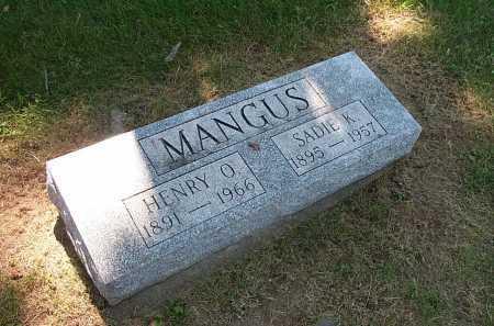 MANGUS, SADIE K - Columbiana County, Ohio | SADIE K MANGUS - Ohio Gravestone Photos