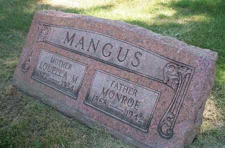 LOUELLA M, MANGUS - Columbiana County, Ohio   MANGUS LOUELLA M - Ohio Gravestone Photos