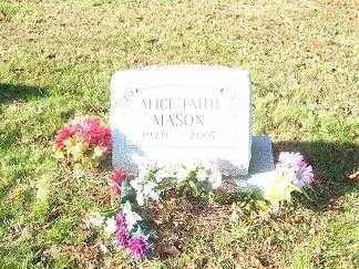 WITHROE MASON, ALICE FAITH - Columbiana County, Ohio | ALICE FAITH WITHROE MASON - Ohio Gravestone Photos