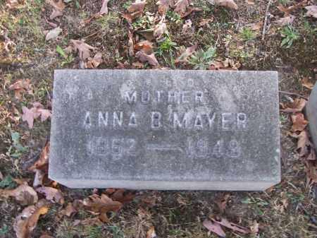 MAYER, ANNA B. - Columbiana County, Ohio   ANNA B. MAYER - Ohio Gravestone Photos