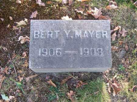 MAYER, BERT Y. - Columbiana County, Ohio | BERT Y. MAYER - Ohio Gravestone Photos