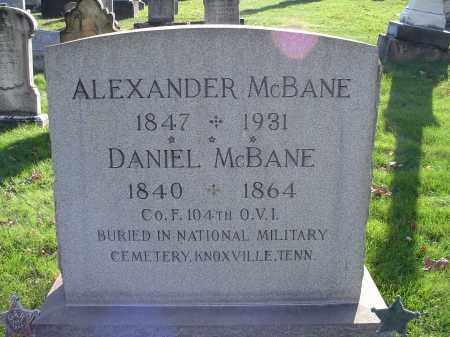 MCBANE, ALEXANDER - Columbiana County, Ohio   ALEXANDER MCBANE - Ohio Gravestone Photos