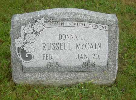 MCCAIN, DONNA J - Columbiana County, Ohio | DONNA J MCCAIN - Ohio Gravestone Photos