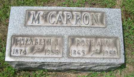 MCCARRON, ROSE ANN - Columbiana County, Ohio   ROSE ANN MCCARRON - Ohio Gravestone Photos