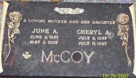 MCCOY, JUNE - Columbiana County, Ohio | JUNE MCCOY - Ohio Gravestone Photos