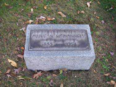 MCDONNELL, OLIVE N. - Columbiana County, Ohio | OLIVE N. MCDONNELL - Ohio Gravestone Photos