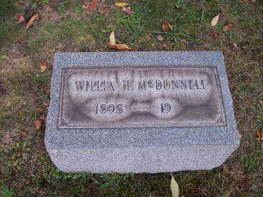 MCDONNELL, WILLIA H. - Columbiana County, Ohio | WILLIA H. MCDONNELL - Ohio Gravestone Photos