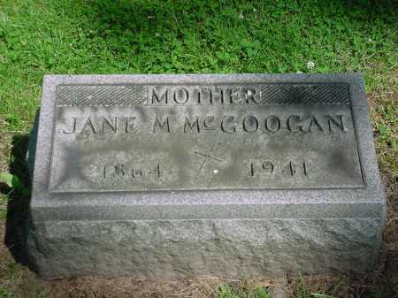MCGOOGAN, JANE MARY - Columbiana County, Ohio | JANE MARY MCGOOGAN - Ohio Gravestone Photos
