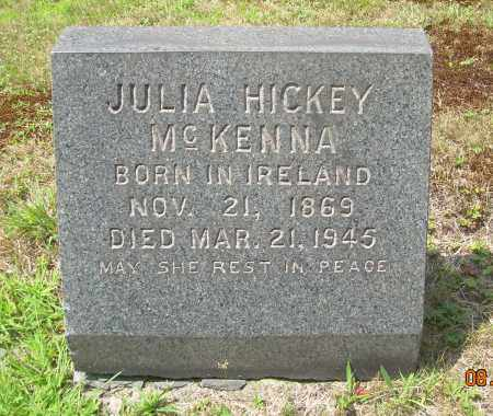 HICKEY MCKENNA, JULIA - Columbiana County, Ohio | JULIA HICKEY MCKENNA - Ohio Gravestone Photos