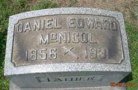 MCNICOL, DANIEL EDWARD - Columbiana County, Ohio   DANIEL EDWARD MCNICOL - Ohio Gravestone Photos