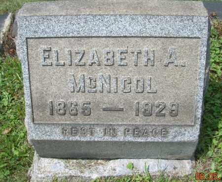 MCNICOL, ELIZABETH - Columbiana County, Ohio | ELIZABETH MCNICOL - Ohio Gravestone Photos