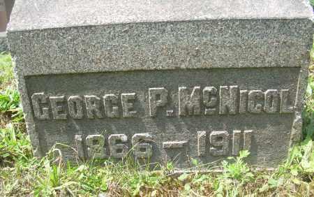 MCNICOL, GEORGE P - Columbiana County, Ohio | GEORGE P MCNICOL - Ohio Gravestone Photos