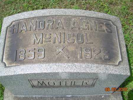 MCNICOL, HANORA AGNES - Columbiana County, Ohio | HANORA AGNES MCNICOL - Ohio Gravestone Photos