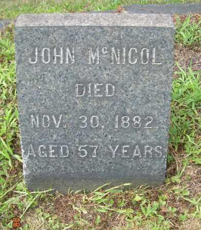MCNICOL, JOHN - Columbiana County, Ohio | JOHN MCNICOL - Ohio Gravestone Photos