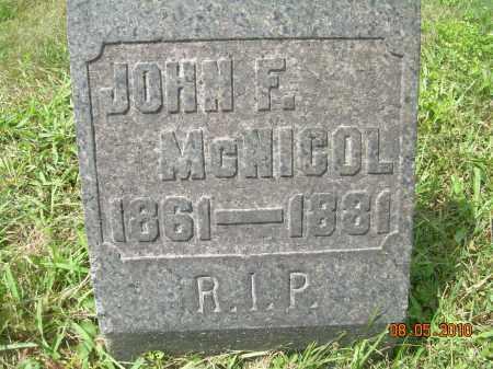MCNICOL, JOHN FRANCIS - Columbiana County, Ohio | JOHN FRANCIS MCNICOL - Ohio Gravestone Photos