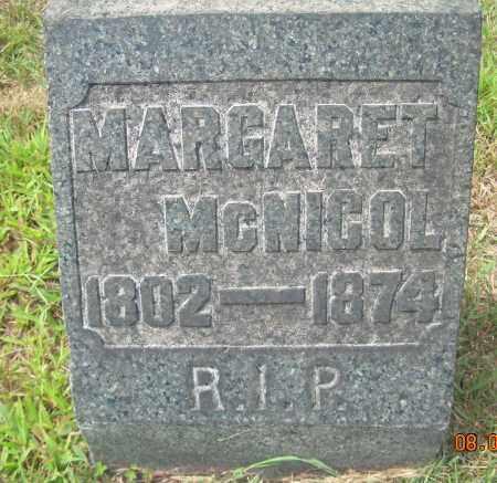 MCNICOL, MARGARET - Columbiana County, Ohio   MARGARET MCNICOL - Ohio Gravestone Photos