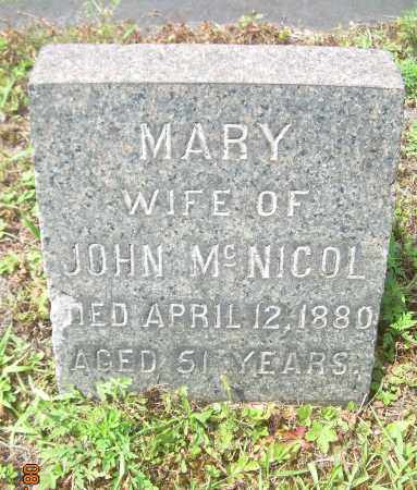 MCNICOL, MARY - Columbiana County, Ohio | MARY MCNICOL - Ohio Gravestone Photos