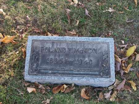 MCNICOL, ROLAND T. - Columbiana County, Ohio   ROLAND T. MCNICOL - Ohio Gravestone Photos