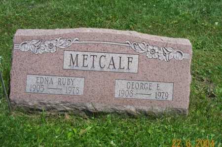 METCALF, EDNA - Columbiana County, Ohio | EDNA METCALF - Ohio Gravestone Photos