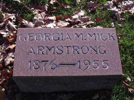MICK, GEORGIA M - Columbiana County, Ohio | GEORGIA M MICK - Ohio Gravestone Photos