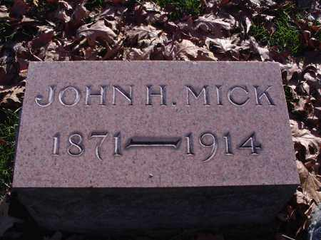 MICK, JOHN H - Columbiana County, Ohio | JOHN H MICK - Ohio Gravestone Photos