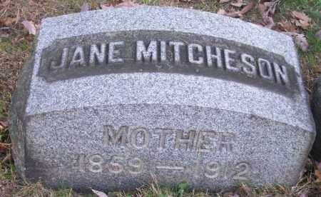 MITCHESON, JANE - Columbiana County, Ohio   JANE MITCHESON - Ohio Gravestone Photos