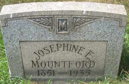 MOUNTFORD, JOSEPHINE E - Columbiana County, Ohio | JOSEPHINE E MOUNTFORD - Ohio Gravestone Photos