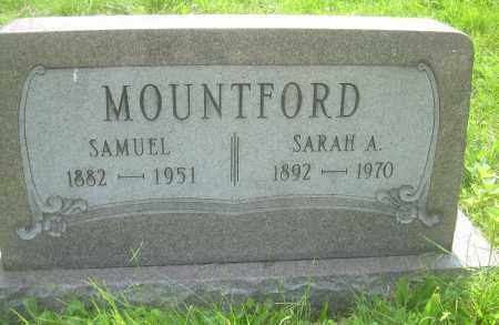 MOUNTFORD, SARAH A - Columbiana County, Ohio | SARAH A MOUNTFORD - Ohio Gravestone Photos