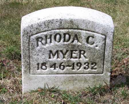 MYER, RHODA C. - Columbiana County, Ohio | RHODA C. MYER - Ohio Gravestone Photos