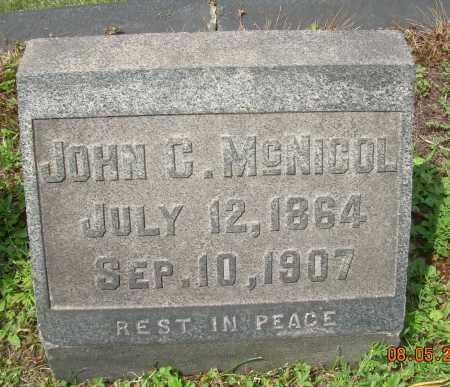 NCNICOL, JOHN C - Columbiana County, Ohio | JOHN C NCNICOL - Ohio Gravestone Photos