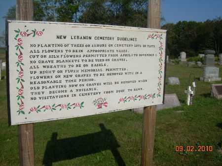 NEW LEBANON CEMETERY, GUIDELINES - Columbiana County, Ohio | GUIDELINES NEW LEBANON CEMETERY - Ohio Gravestone Photos
