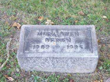 O'BRIEN, MURA OWEN - Columbiana County, Ohio | MURA OWEN O'BRIEN - Ohio Gravestone Photos