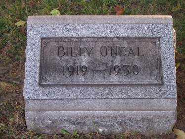 O'NEAL, BILLY - Columbiana County, Ohio   BILLY O'NEAL - Ohio Gravestone Photos