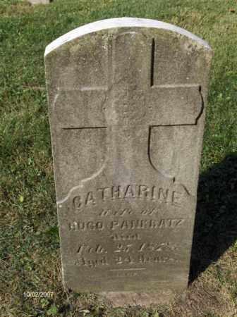 PANKRATZ, CATHERINE - Columbiana County, Ohio   CATHERINE PANKRATZ - Ohio Gravestone Photos
