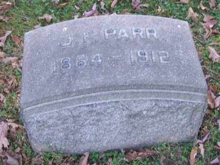 PARR, J. F. - Columbiana County, Ohio | J. F. PARR - Ohio Gravestone Photos