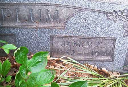 PLUM, JAMES E. [EDWARD] - Columbiana County, Ohio   JAMES E. [EDWARD] PLUM - Ohio Gravestone Photos