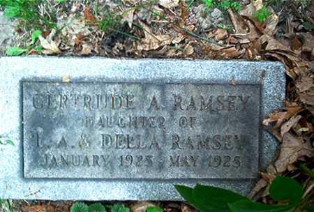 RAMSEY, GERTRUDE A. - Columbiana County, Ohio | GERTRUDE A. RAMSEY - Ohio Gravestone Photos