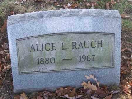 RAUCH, ALICE L. - Columbiana County, Ohio | ALICE L. RAUCH - Ohio Gravestone Photos
