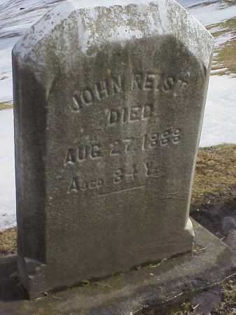 REIST, JOHN - Columbiana County, Ohio   JOHN REIST - Ohio Gravestone Photos