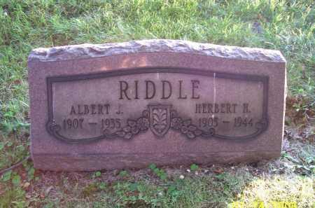 RIDDLE, ALBERT J. - Columbiana County, Ohio | ALBERT J. RIDDLE - Ohio Gravestone Photos