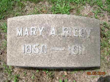RIGBY, MARY A - Columbiana County, Ohio | MARY A RIGBY - Ohio Gravestone Photos