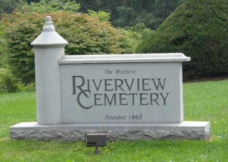 RIVERVIEW CEMETERY, ENTRANCE SIGN - Columbiana County, Ohio   ENTRANCE SIGN RIVERVIEW CEMETERY - Ohio Gravestone Photos