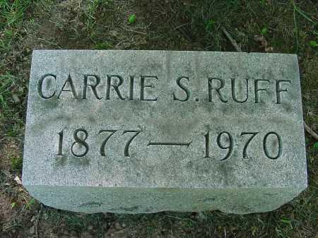 RUFF, CARRIE - Columbiana County, Ohio | CARRIE RUFF - Ohio Gravestone Photos