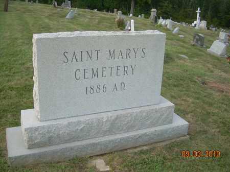 SAINT MARY'S CEMETERY, SIGN - Columbiana County, Ohio | SIGN SAINT MARY'S CEMETERY - Ohio Gravestone Photos