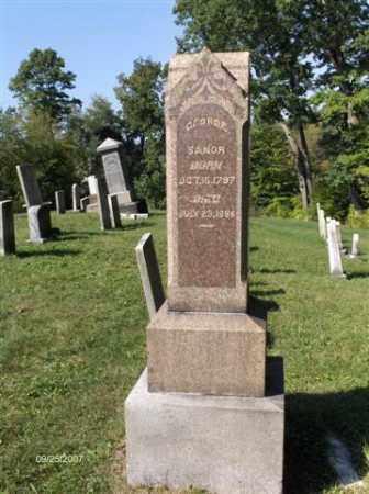 SANOR, GEORGE - Columbiana County, Ohio   GEORGE SANOR - Ohio Gravestone Photos