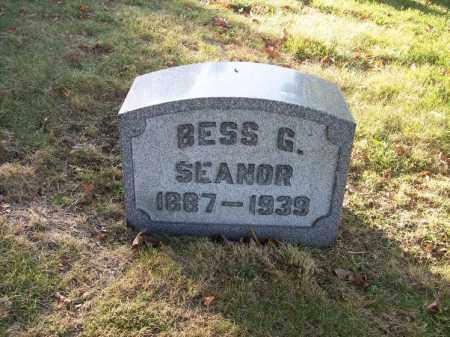 SEANOR, BESS G. - Columbiana County, Ohio | BESS G. SEANOR - Ohio Gravestone Photos