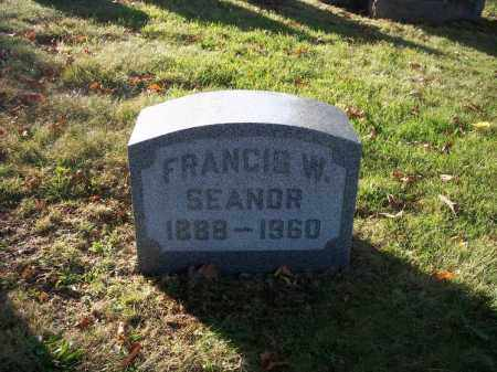 SEANOR, FRANCIS W. - Columbiana County, Ohio | FRANCIS W. SEANOR - Ohio Gravestone Photos