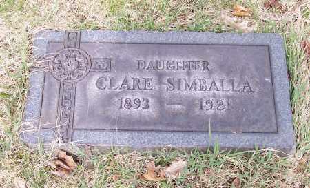SIMBALLA, CLARE - Columbiana County, Ohio | CLARE SIMBALLA - Ohio Gravestone Photos